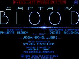 Title screen of Captain Blood on the Commodore Amiga.