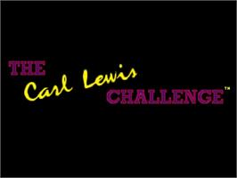 Title screen of Carl Lewis Challenge on the Commodore Amiga.