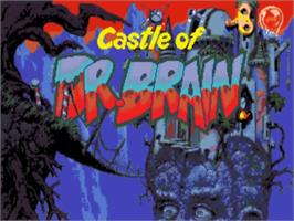 Title screen of Castle of Dr. Brain on the Commodore Amiga.