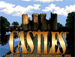 Title screen of Castles: The Northern Campaign on the Commodore Amiga.