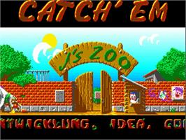 Title screen of Catch 'em on the Commodore Amiga.