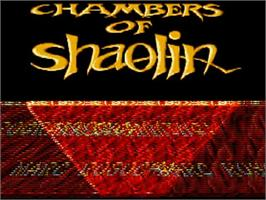 Title screen of Chambers of Shaolin on the Commodore Amiga.