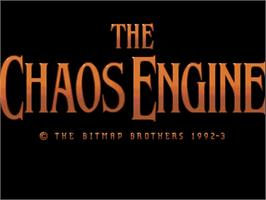 Title screen of Chaos Engine on the Commodore Amiga.
