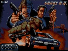 Title screen of Chase H.Q. on the Commodore Amiga.