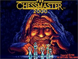 Title screen of Chessmaster 2000 on the Commodore Amiga.