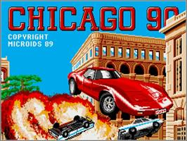 Title screen of Chicago 90 on the Commodore Amiga.