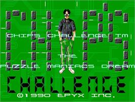 Title screen of Chip's Challenge on the Commodore Amiga.