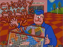 Title screen of Chubby Gristle on the Commodore Amiga.