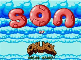 Title screen of Chuck Rock 2: Son of Chuck on the Commodore Amiga.