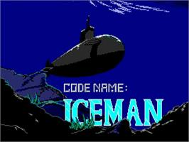 Title screen of Codename: ICEMAN on the Commodore Amiga.