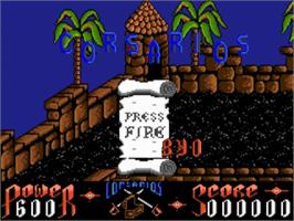 Title screen of Corsarios on the Commodore Amiga.