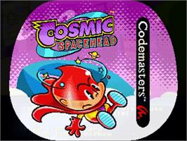 Title screen of Cosmic Spacehead on the Commodore Amiga.