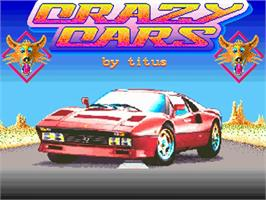 Title screen of Crazy Cars on the Commodore Amiga.