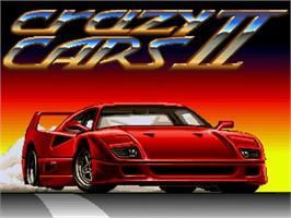 Title screen of Crazy Cars 2 on the Commodore Amiga.
