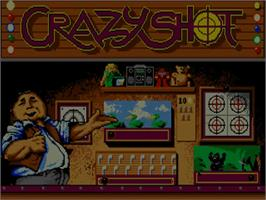 Title screen of Crazy Shot on the Commodore Amiga.