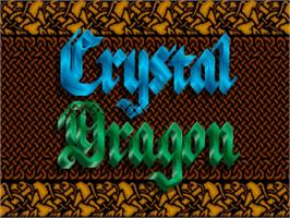 Title screen of Crystal Dragon on the Commodore Amiga.