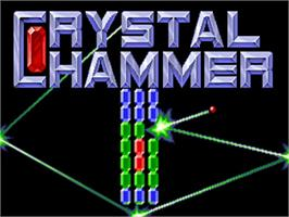 Title screen of Crystal Hammer on the Commodore Amiga.