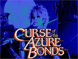 Title screen of Curse of the Azure Bonds on the Commodore Amiga.