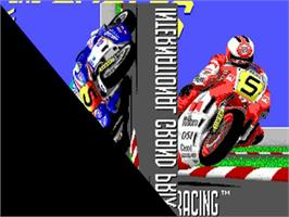 Title screen of Cycles: International Grand Prix Racing on the Commodore Amiga.