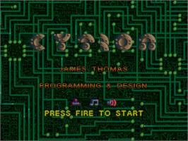 Title screen of Cytron on the Commodore Amiga.