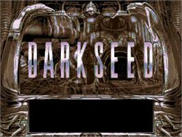 Title screen of Dark Seed on the Commodore Amiga.