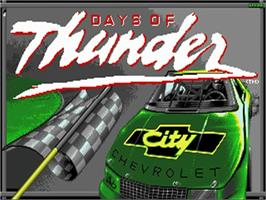 Title screen of Days of Thunder on the Commodore Amiga.