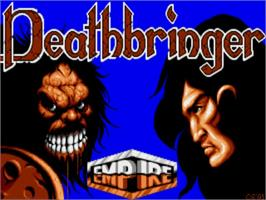 Title screen of Death Bringer on the Commodore Amiga.