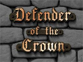 Title screen of Defender of the Crown on the Commodore Amiga.