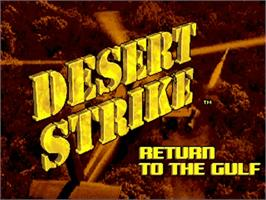 Title screen of Desert Strike: Return to the Gulf on the Commodore Amiga.