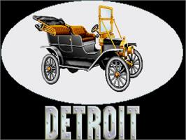 Title screen of Detroit on the Commodore Amiga.
