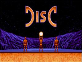 Title screen of Disc on the Commodore Amiga.