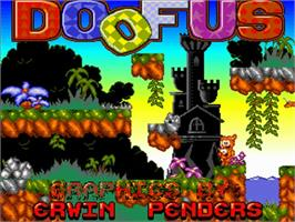 Title screen of Doofus on the Commodore Amiga.