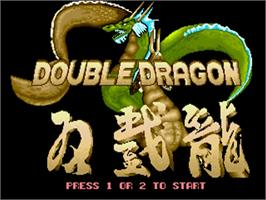 Title screen of Double Dragon on the Commodore Amiga.
