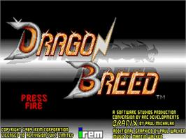 Title screen of Dragon Breed on the Commodore Amiga.
