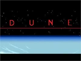 Title screen of Dune on the Commodore Amiga.