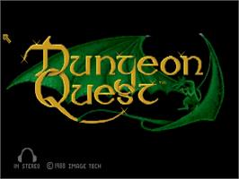 Title screen of Dungeon Quest on the Commodore Amiga.
