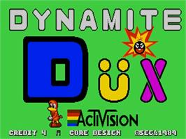 Title screen of Dynamite Dux on the Commodore Amiga.