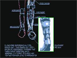 Title screen of E-SWAT: Cyber Police on the Commodore Amiga.