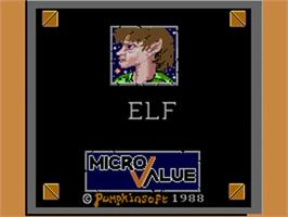 Title screen of Elf on the Commodore Amiga.