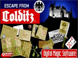 Title screen of Escape from Colditz on the Commodore Amiga.