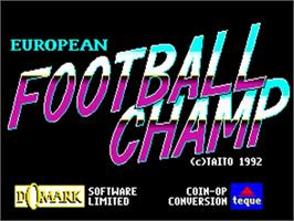 Title screen of European Football Champ on the Commodore Amiga.