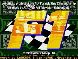 Title screen of F1 on the Commodore Amiga.