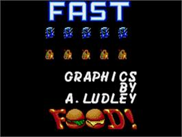 Title screen of Fast Food on the Commodore Amiga.