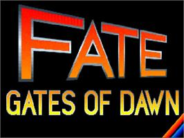 Title screen of Fate: Gates of Dawn on the Commodore Amiga.