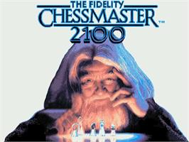 Title screen of Fidelity Chessmaster 2100 on the Commodore Amiga.