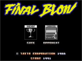 Title screen of Final Blow on the Commodore Amiga.