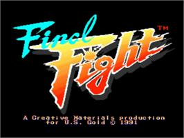 Title screen of Final Fight on the Commodore Amiga.