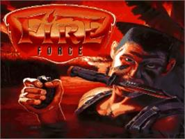 Title screen of Fire Force on the Commodore Amiga.