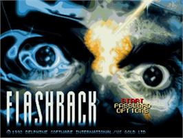 Title screen of Flashback on the Commodore Amiga.