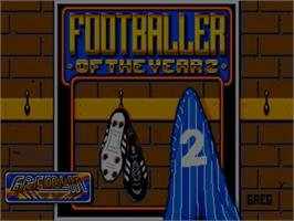 Title screen of Footballer of the Year 2 on the Commodore Amiga.